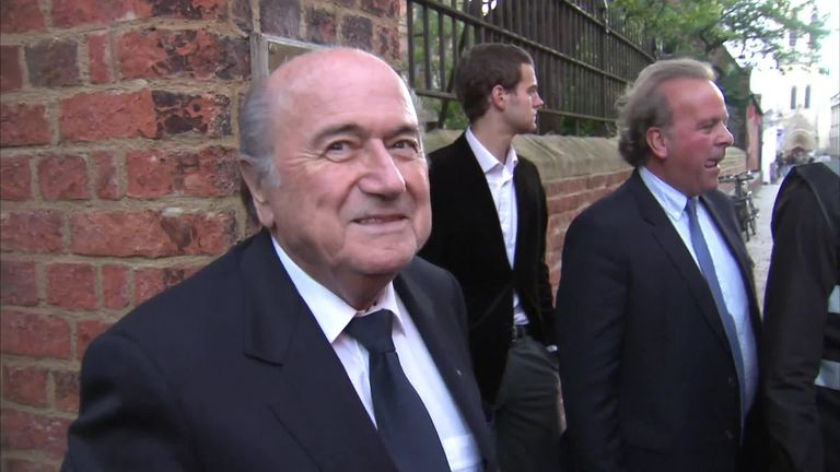 Sepp Blatter received an eight-year ban from football in 2015