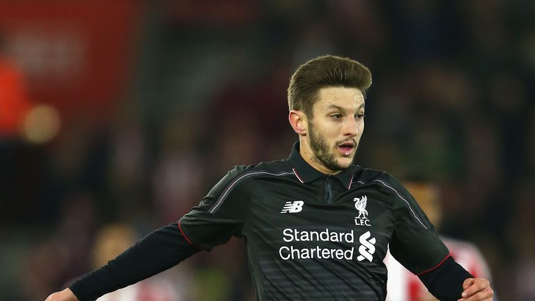 SOUTHAMPTON, ENGLAND - DECEMBER 02: Adam Lallana of Liverpool during the Capital One Cup Quarter Final match between Southampton and Liverpool at St Mary's