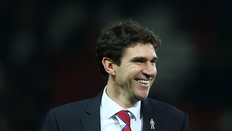 Manager Aitor Karanka of Middlesbrough celebrates