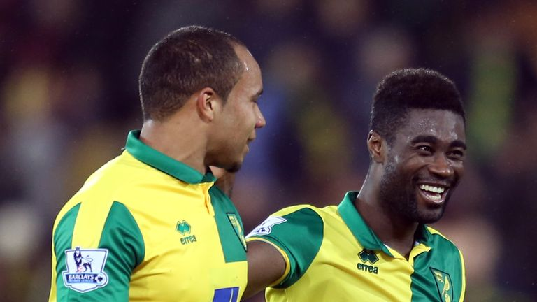 Alex Tettey (right) and Vadis Odjidja-Ofoe combined for the winning goal