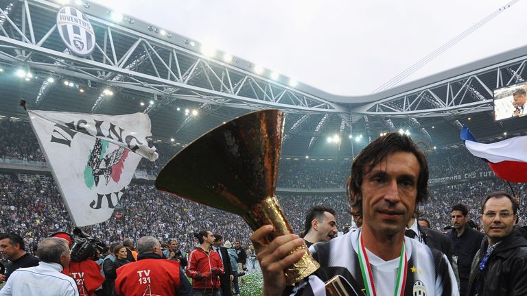 Andrea Pirlo says he is 'lucky' to have played under Conte