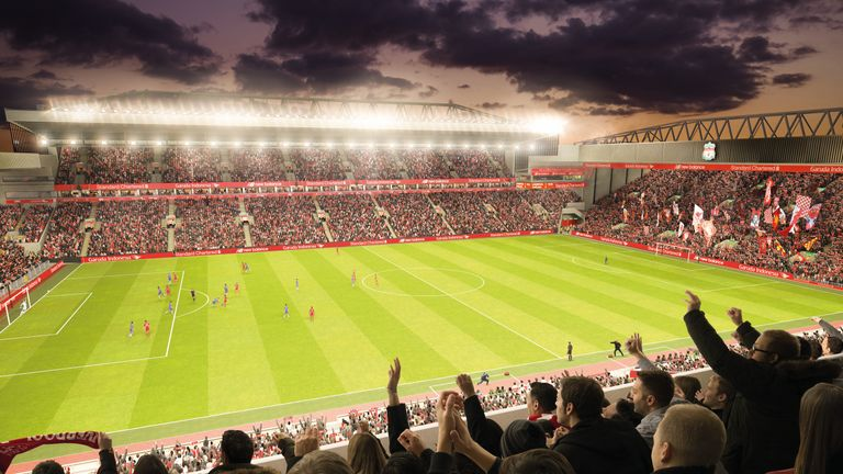 Liverpool's new main stand is due to be open by the time rugby league returns to Anfield - pic courtesy Liverpool FC