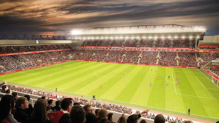 The view from the new main stand at Anfield - pic courtesy Liverpool FC