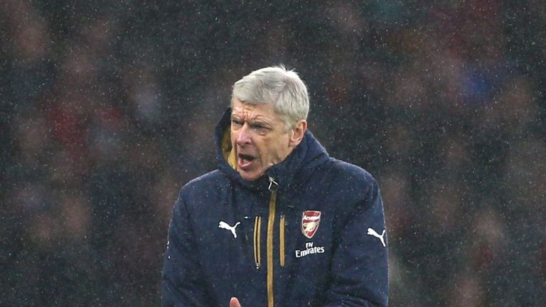 Arsene Wenger looks on during the Barclays Premier League match between Arsenal and Newcastle United