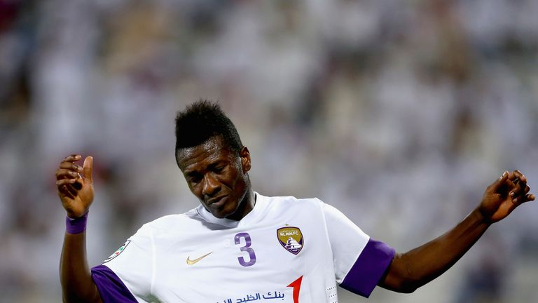 Asamoah Gyan spent four years in Abu Dhabi playing for Al Ain after leaving Sunderland