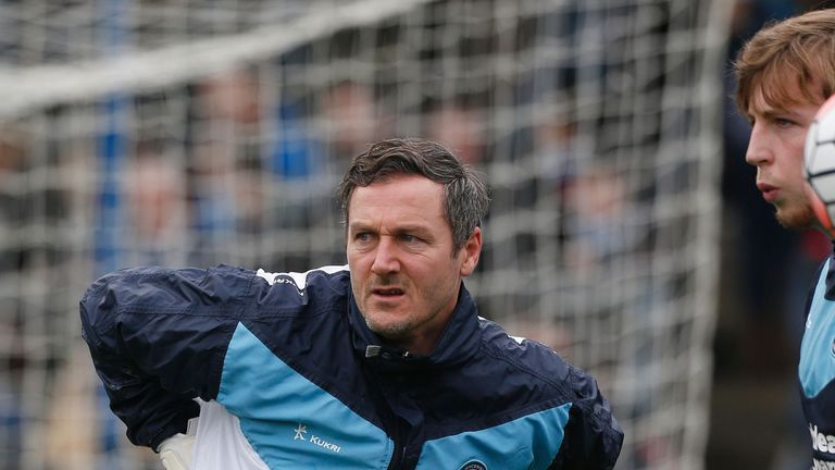 Wycombe Wanderers' goalkeeping coach Barry Richardson, pictured earlier this season