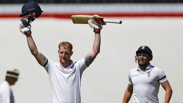Ben Stokes celebrates scoring a double hundred for England against South Africa in Cape Town