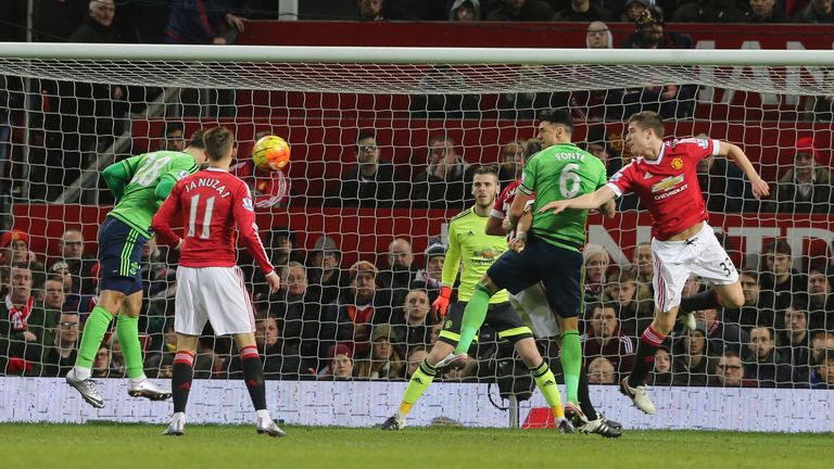 Charlie Austin of Southampton scores their winning goal