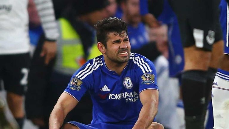 Costa was injured after sparking Chelsea's comeback against Everton