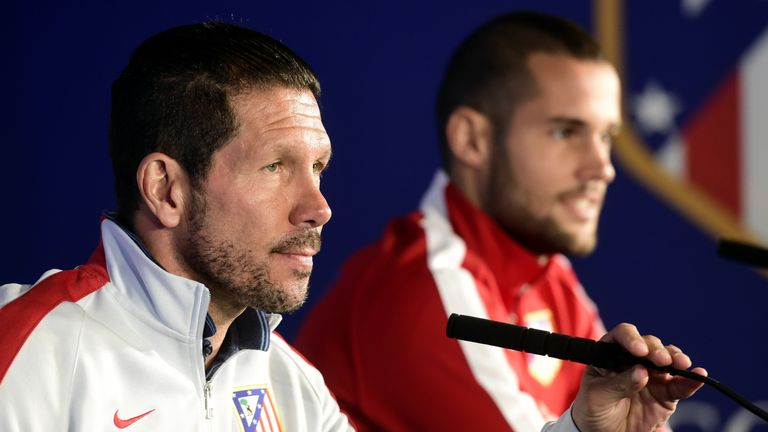 Balague thinks Diego Simeone (left) will stay at  Atletico Madrid