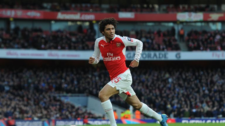 Mohamed Elneny of Arsenal during the match between Arsenal and Burnley in the FA Cup 4th round at Emirates Stadium on January 30,