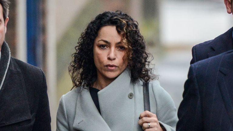 Eva Carneiro arrives at Montague Court, Croydon for an initial hearing in an employment tribunal