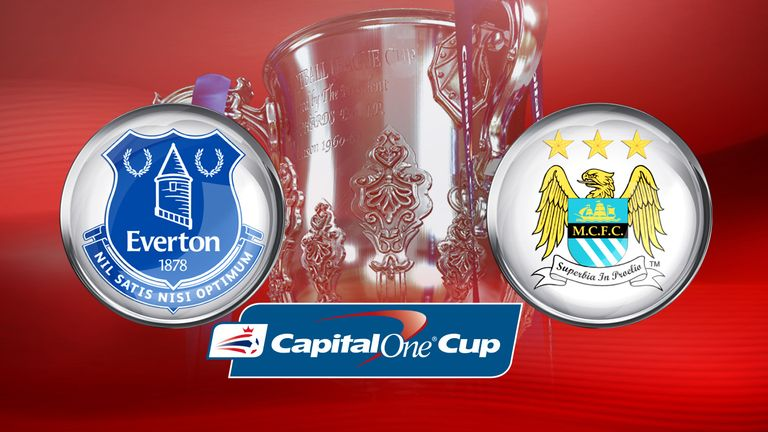 Watch Everton v Man City in the Capital One Cup semi-finals, Wednesday, 7pm, Sky Sports 1 HD