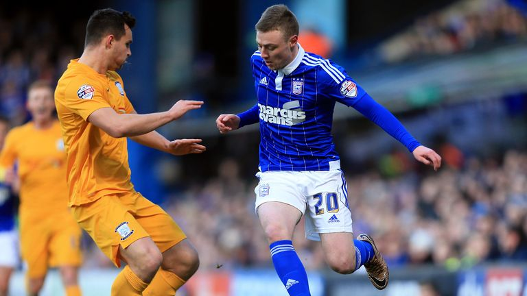 Freddie Sears (right) in action for Ipswich