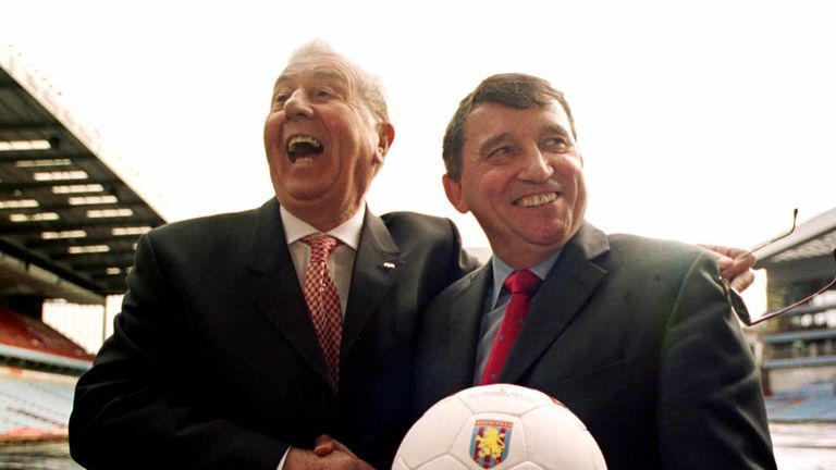 Graham Taylor (R) arrived at Villa in 2002, and soon created a player liaison officer role