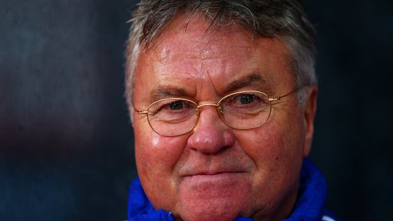 Guus Hiddink was pleased with the performance of his Chelsea side in their win over Crystal Palace