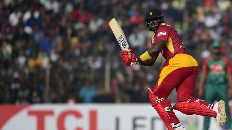 Hamilton Masakadza top-scored with the bat for Zimbabwe against Hong Kong