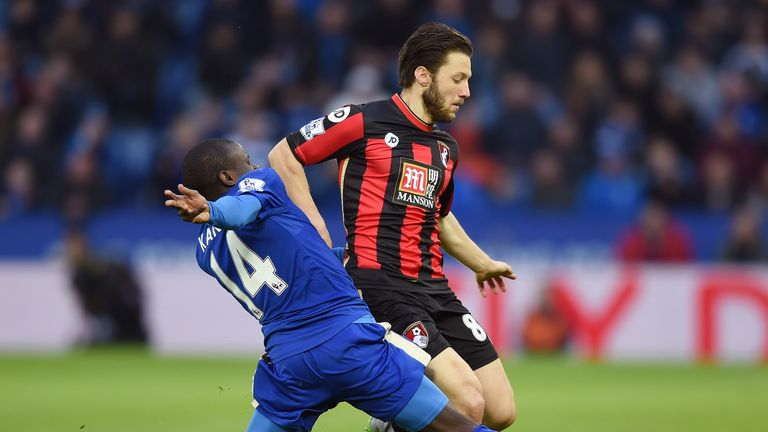 Bournemouth's Harry Arter ranks highly in terms of passing