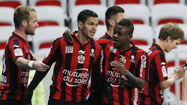 Hatem Ben Arfa's sensational hat-trick moved Nice into fourth place in the Ligue 1 table as they defeated Rennes 3-0.