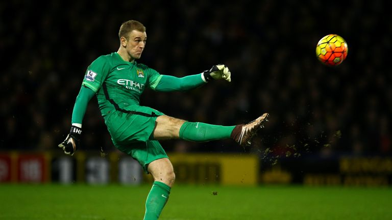 Joe Hart Watford v Manchester City