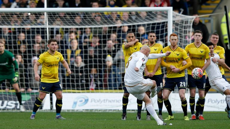 Shelvey made a rare appearance in the shock FA Cup third-round exit to Oxford United