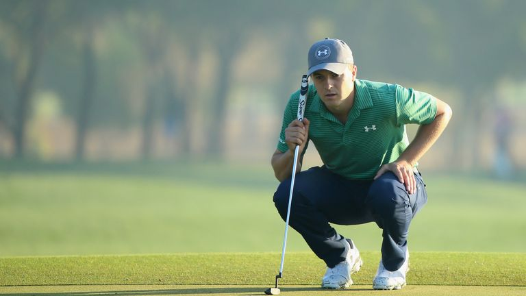 Spieth took too long to line up his birdie putt on his penultimate hole on day one