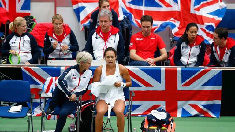 Judy Murray and Heather Watson have worked together before during the Fed Cup