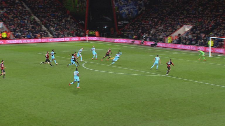 Angelo Ogbonna blocks Junior Stanislas' shot with his arm but it's not outstretched