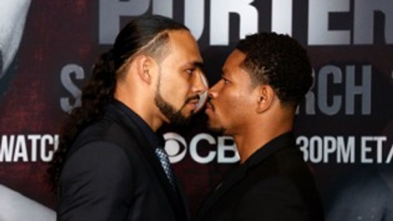 Thurman (l) will defend his WBA belt against Porter