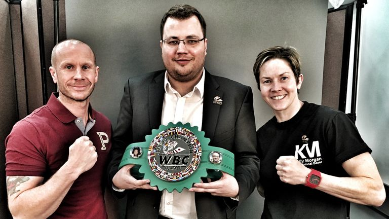Kelly Morgan (R) is in line to fight for Nikki Adler's WBC title