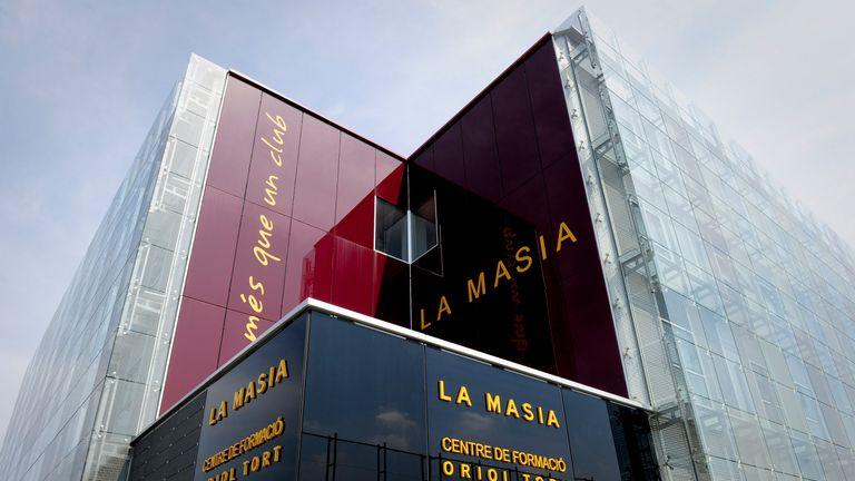 La Masia training centre Oriol Tort