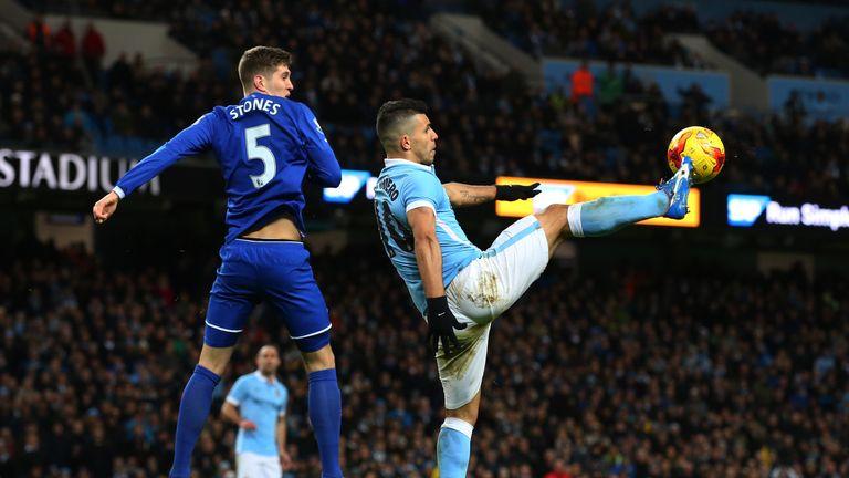 John Stones struggled at right-back for Everton