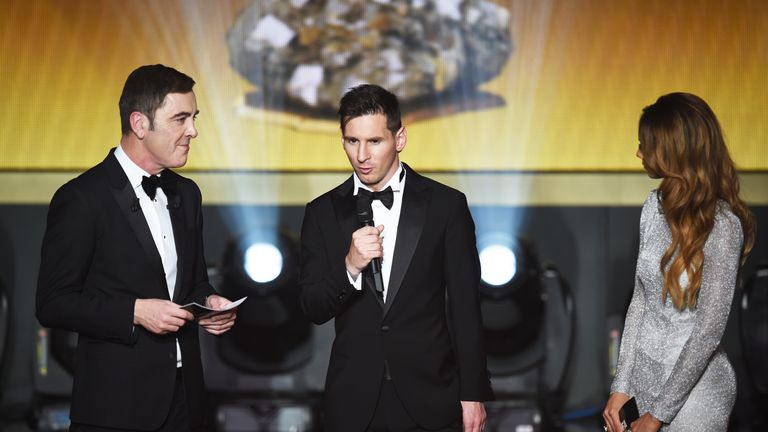 Lionel Messi was awarded a fourth Ballon d'Or over Cristiano Ronaldo and Neymar