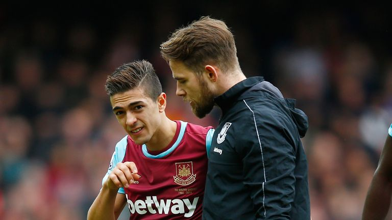 Manuel Lanzini is another West Ham was has missed time through injury