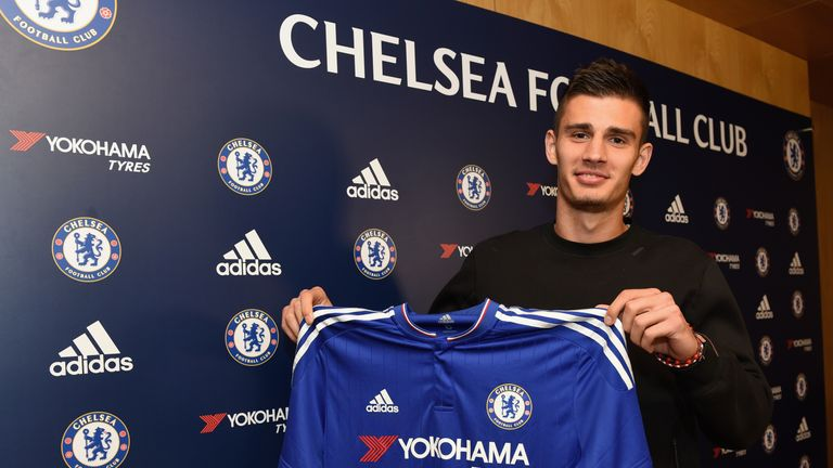 Chelsea's new signing Matt Miazga at the Cobham Training Ground