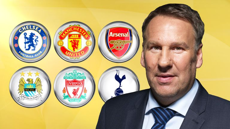 Who has Paul Merson selected for his top six - and in what order?