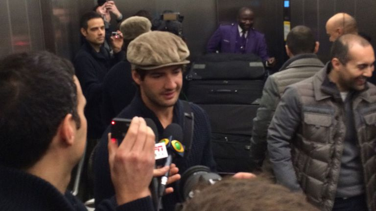 Pato arriving at Heathrow airport on Wednesday afternoon