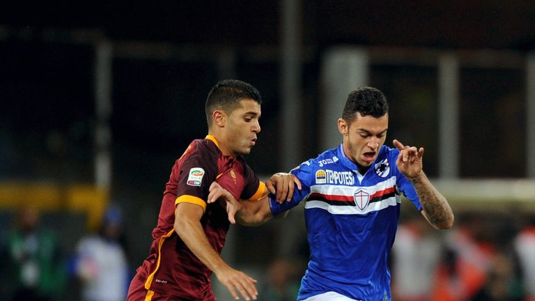 Pedro Pereira has played five times for Sampdoria this season