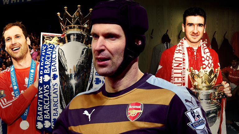 Petr Cech and Eric Cantona