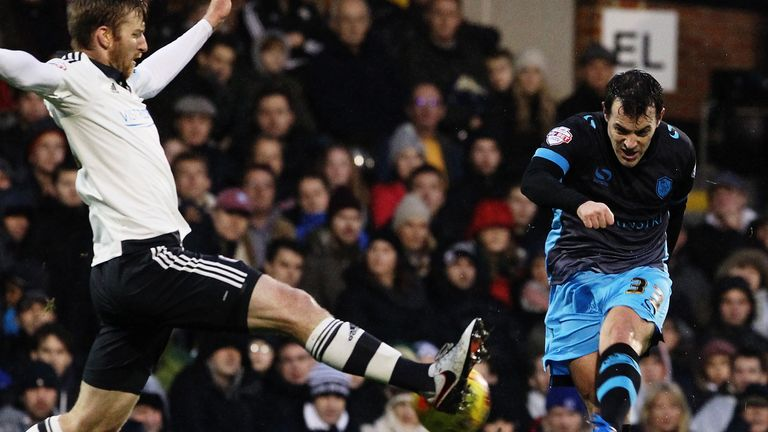 Sheffield Wednesday's Ross Wallace shoots on goal