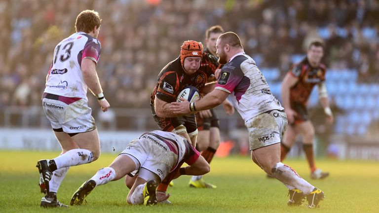 Thomas Waldrom secured a crucial bonus point for Exeter Chiefs