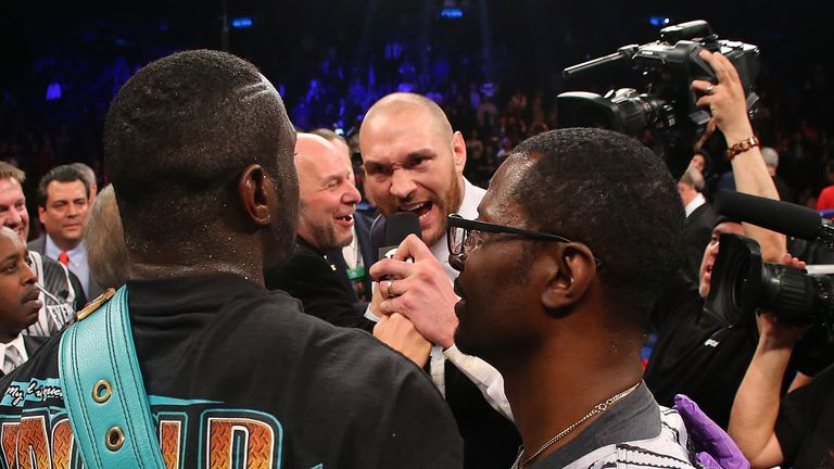 Fury confronted Wilder in January 2016
