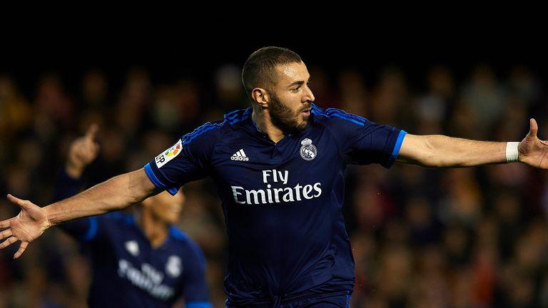 Karim Benzema celebrates the opening goal