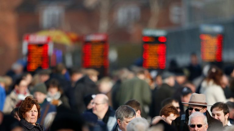 A large crowd at Warwick racecourse on January 16, 2016