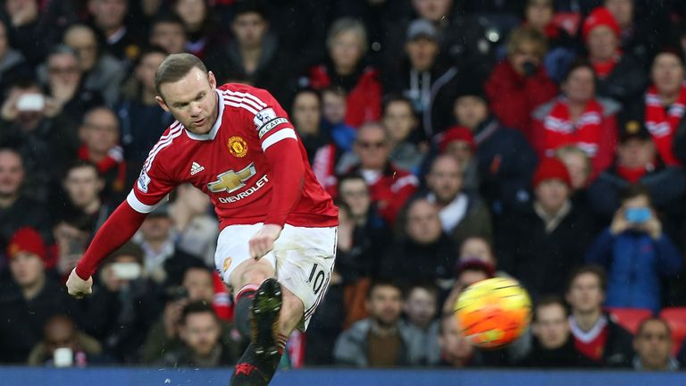 Wayne Rooney scored his 188th Premier League goal in Manchester United's 2-1 win over Swansea City