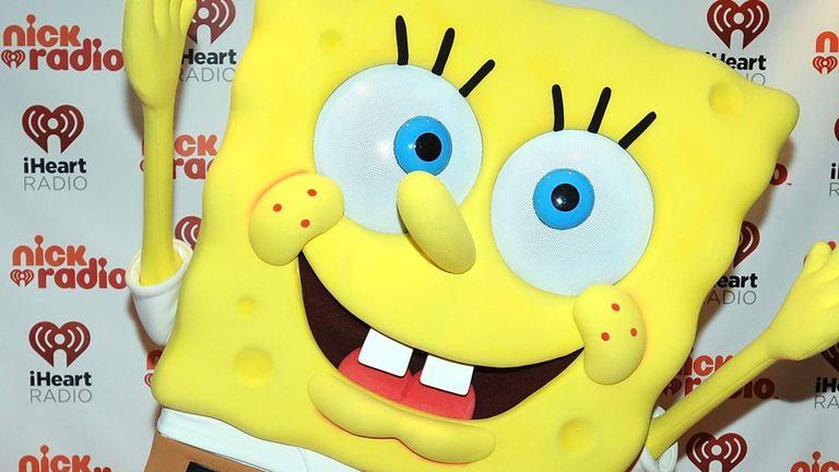 He is a big fan of cartoon SpongeBob SquarePants