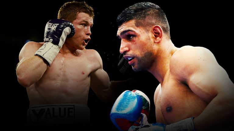 Amir Khan will square off with Saul 'Canelo' Alvarez (left) in the spring