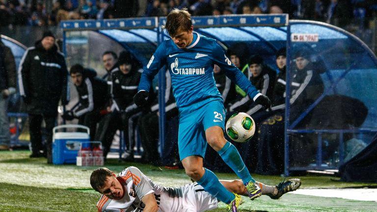 Arshavin in action on his return to Zenit St Petersburg