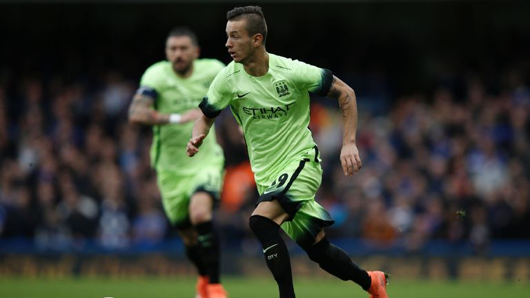 Manchester City'  Bersant Celina during the English FA Cup fifth round football match against Chelsea at Stamford Bridge in London on February 21, 2016