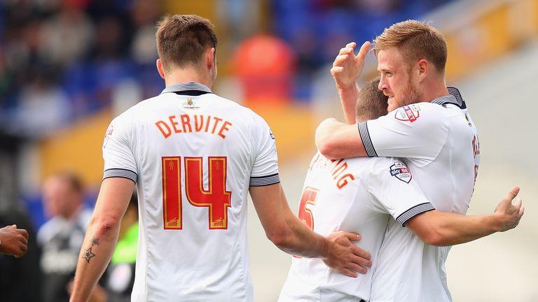 Bolton celebrate Jay Spearing's goal
